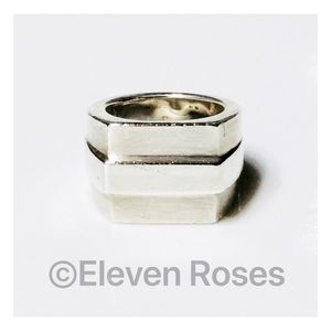 XL Sterling Silver Gucci Ring